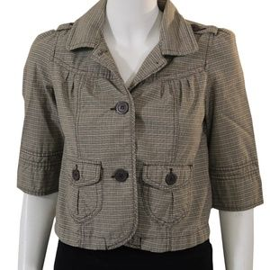 Roxy Jacket - Size XS - Brown/Green/Tan